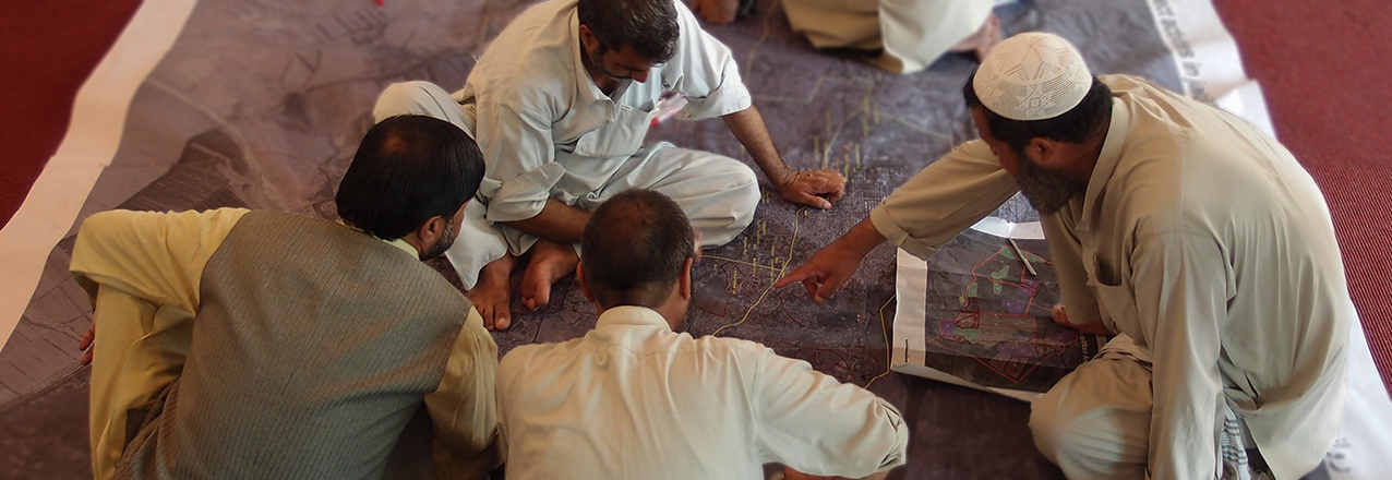 Participatory mapping workshop in Jalalabad, Afghanistan