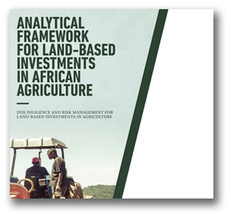 Cover page of the Analytical Framework