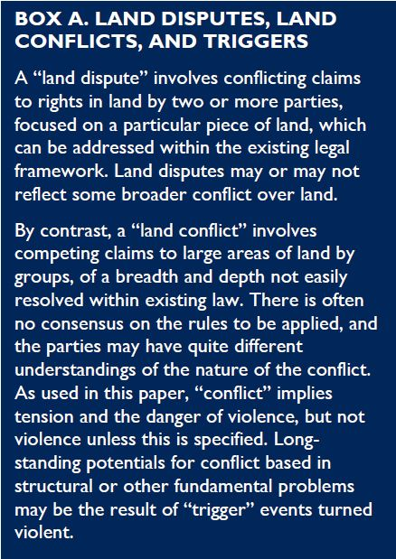 Land And Conflict  Landlinks