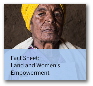 Fact sheet on land and women's empowerment