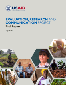 Evaluation, Research and Communication Project Final Report August 2018